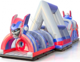 Dmuchany Tor Przeszkód - Wipeout Transformers atrakcja na festyny, jarmarki bożonarodzeniowe i eventy firmowe